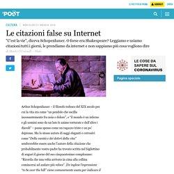 Le citazioni false su Internet