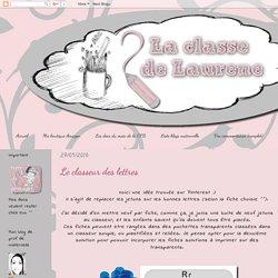 La maternelle de Laurène: Le classeur des lettres
