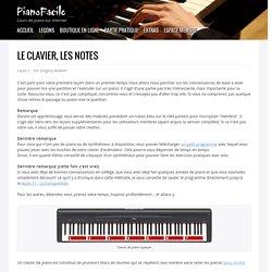 Le clavier et les notes