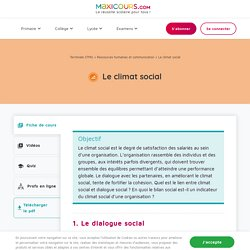 Le climat social - Maxicours