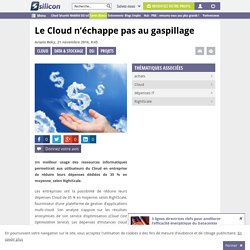 Le Cloud n'échappe pas au gaspillage
