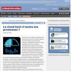 Le cloud tient-il toutes ses promesses ? -