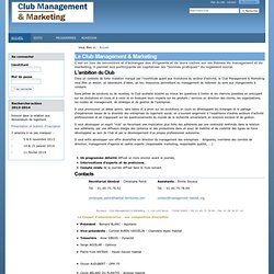 Le Club Management & Marketing — Club Management & Marketing