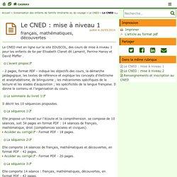 Le CNED : mise à niveau 1 - CASNAV