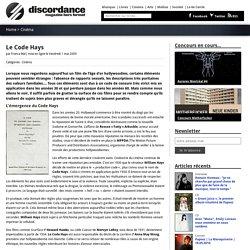 Impact du Code Hays sur le cinéma américain