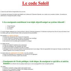 Le code Soleil