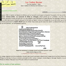 Le Codex Bezae, Le Mercure de Gaillon