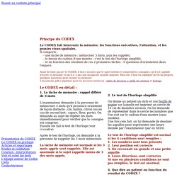 Le codex en pratique