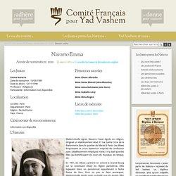 Le comité Français pour Yad Vashem