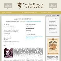 Denise Agadich-Paulin. Sr Joséphine. Fiche YV