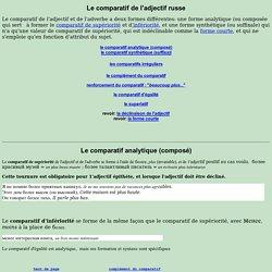 Le comparatif de l'adjectif russe