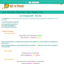 Le comparatif - niveau A2