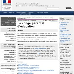 Le congé parental d'éducation