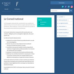 Le Conseil national de la CNCC - Présentation