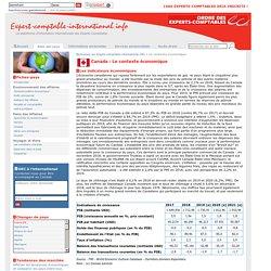 Le contexte économique du Canada