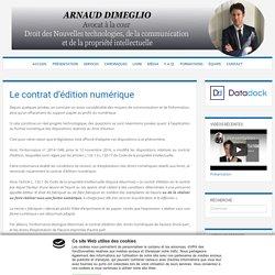 Le contrat d'édition numérique