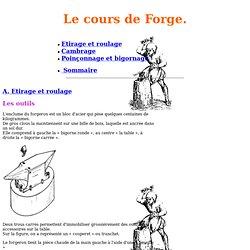 Le cours de Forge