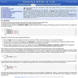 Le CSS - Tutoriel HTML & CSS