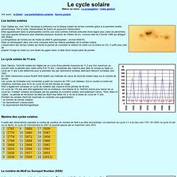 Le cycle solaire