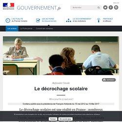 Le décrochage scolaire - Gouvernement.fr