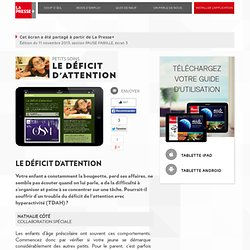 Le déficit d'attention