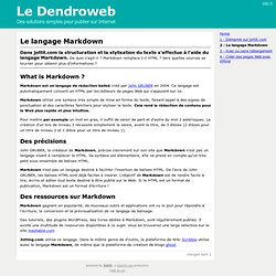 Le langage Markdown
