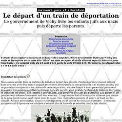 Le départ d'un train de déportation