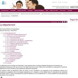 Le département (vitrine.Le département) - CNFPT