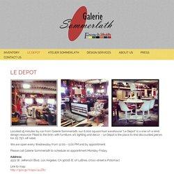Le Depot - Galerie Sommerlath