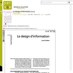 Le design d'information - Persée