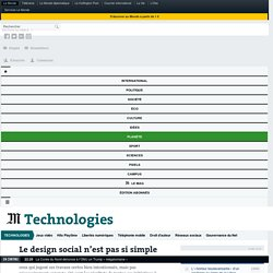 Le design social n'est pas si simple
