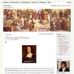 » Le désir comme puissance d'être. Spinoza