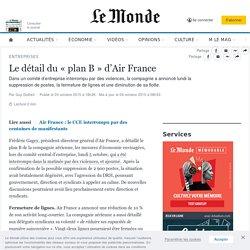 Le détail du «planB» d'Air France