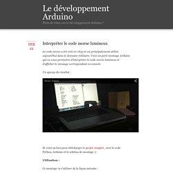 Le développement Arduino