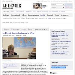 Le Devoir des écrivains sur le Web