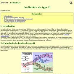 Le diabète de type II