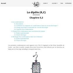 Le dipôle (R,C) - Accueil