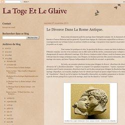 Le Divorce Dans La Rome Antique.