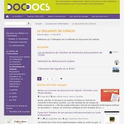 Le document de collecte - Doc pour docs