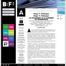 Le document à la lumière du numérique