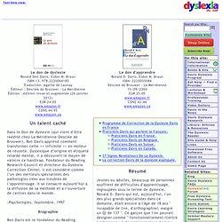 Le don de dyslexie / Le don d'apprendre