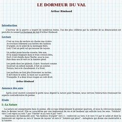 Francais oraux fiche pearltrees - Dormeur du val rimbaud ...