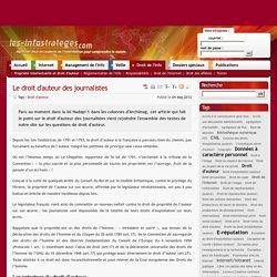 Le droit d'auteur des journalistes