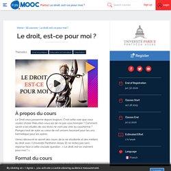 MOOC : Le droit, est-ce pour moi ?