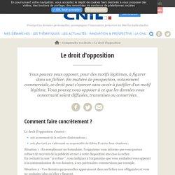 Le droit d'opposition