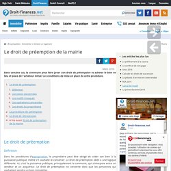 Pr emption pearltrees - Le droit de preemption ...