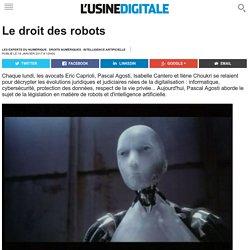 Le droit des robots