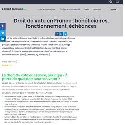 Le droit de vote en France : qui a droit à quelles élections ?