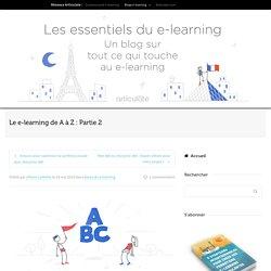 Le e-learning de A à Z : Partie 2