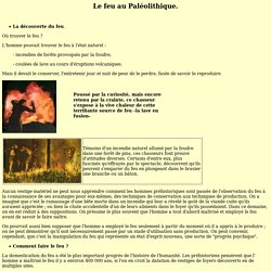Le feu au Paléolithique